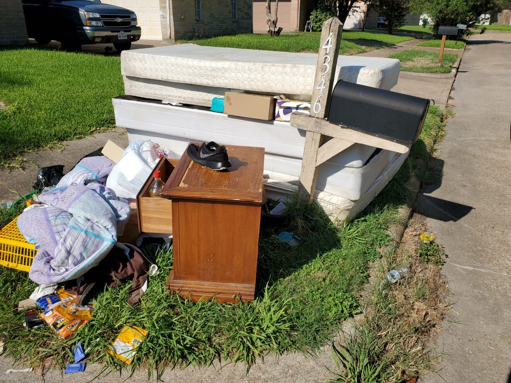 property left outside after eviction.