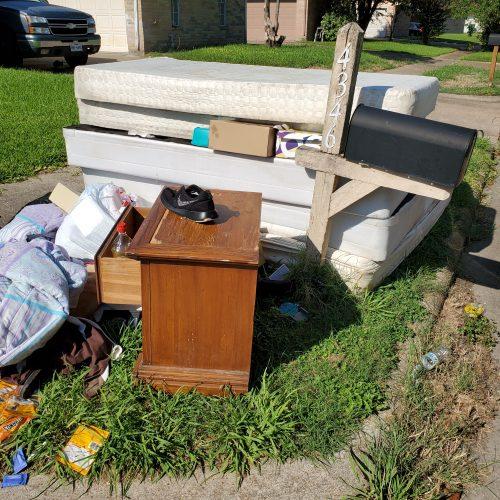 property left outside. Full service junk removal.